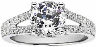 FINE JEWELRY 100 Facets by DiamonArt Cubic Zirconia Split Shank Ring