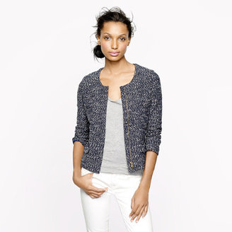 J.Crew Micro-tweed jacket in navy
