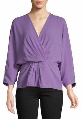 Diane von Furstenberg Pleated Long-Sleeve Blouse