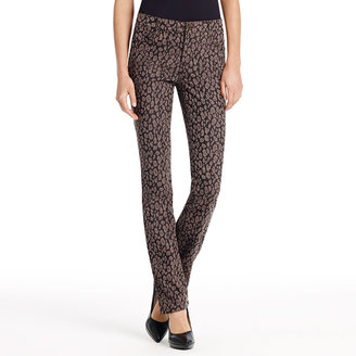Jones New York The Straight Leg Jean in Leopard Print