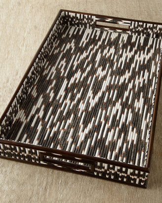 """Janice Minor Export """"Porcupine Quill"""" Tray"""