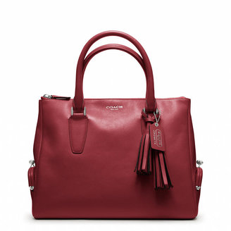 Coach Legacy Archival Top Zip Satchel In Leather