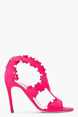Rupert Sanderson Fuchsia suede Floria stilettos heels