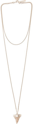 Givenchy Mini Shark Teeth Double Chain Necklace in Limestone