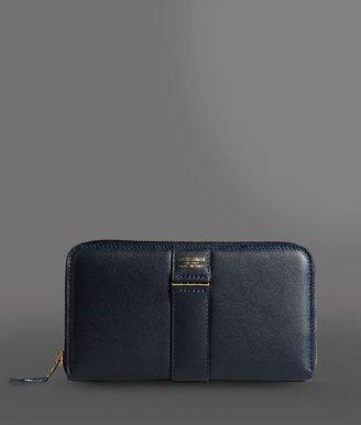 Giorgio Armani Zip Around Calfskin Wallet