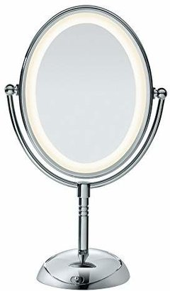 Conair Double-Sided Lighted Makeup Mirror - Lighted Vanity Makeup Mirror with LED Lights; 1x/7x magnification; Polished Finish