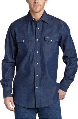 Wrangler Men's Authentic Cowboy Cut Work Western Long Sleeve Shirt
