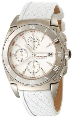 Seiko Women's SNDZ43 Sportura Chronograph Watch $558 thestylecure.com