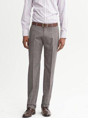 Banana Republic Tailored Slim-Fit Taupe Wool Dress Pant