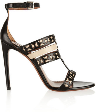 Alaia Laser-cut matte-leather sandals