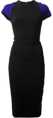 Victoria Beckham contrast sleeve dress