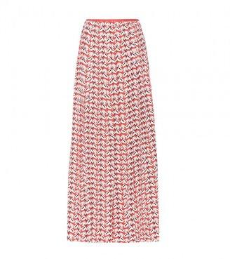 Tory Burch Gabby silk-crepe printed maxi skirt