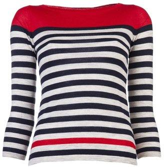 Autumn Cashmere Engineered striped sweater