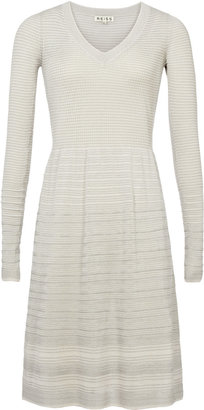 Reiss Katie FIT & FLARE TEXTURE DRESS