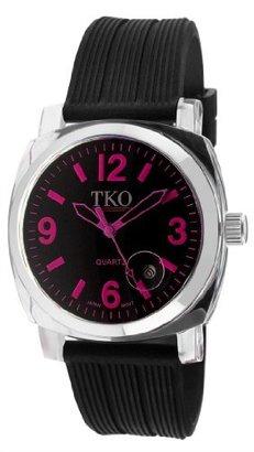 TKO ORLOGI Women's TK549-FB Milano Remixed Fuschia Black Strap Watch