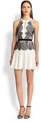 BCBGMAXAZRIA Leyla Lace Halter Dress