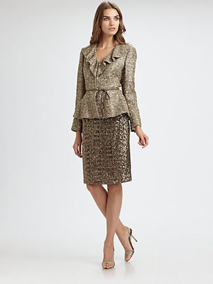 Kay Unger Tweed Jacket & Sequin Skirt