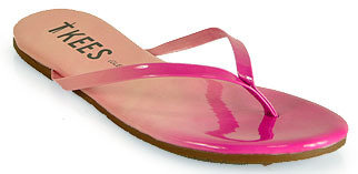 TKEES Blends - Pink Leather Thong Sandal