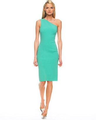Michael Kors One-Shoulder Sheath Dress