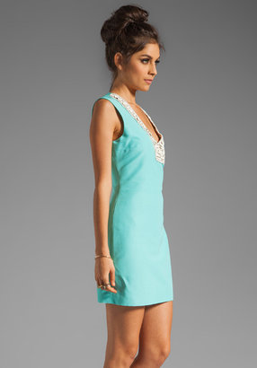Plenty by Tracy Reese Solid Silk Embellished Shift Dress