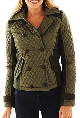 JCPenney Collection B. Quilted Double-Breasted Jacket