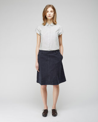 Mhl By Margaret Howell round collar shirt