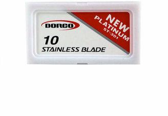 Smallflower Platinum Stainless Double Edge Razor Blades - 10 Pack by Dorco (10 Razor Blades)
