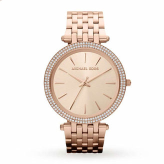 Michael Kors Ladies Rose Gold Plated Watch