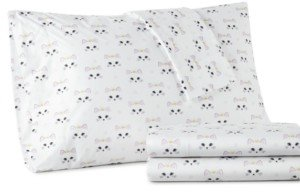 Shavel Micro Flannel Printed King 4-pc Sheet Set