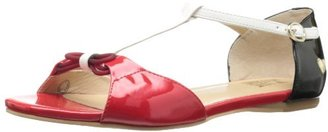 Love Moschino Women's Tri-Colored Flat Sandal
