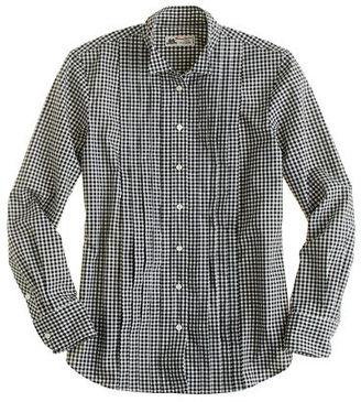 Thomas Mason tuxedo shirt in gingham
