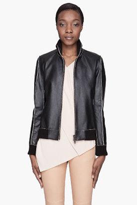 Maison Martin Margiela Black raw-edged calf Leather Jacket