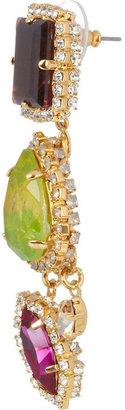 Erickson Beamon Martini Twist gold-plated Swarovski crystal earrings