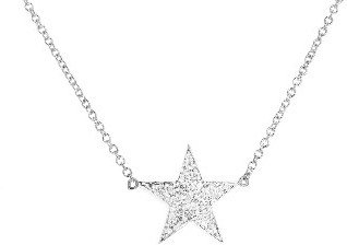 Jennifer Meyer Diamond Lucky Star Necklace - White Gold