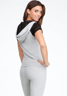 Bebe Logo Lace Hoodie Jacket
