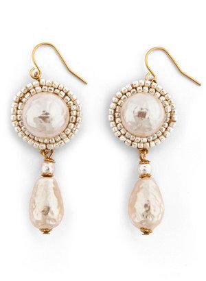 Miriam Haskell Power of Pearl Earrings