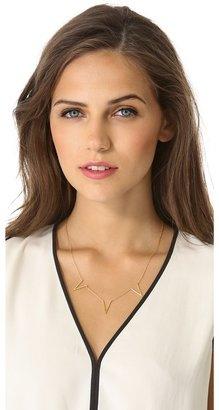 Jennifer Zeuner Jewelry Triple Open Triangle Necklace