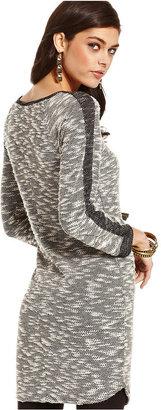 Jessica Simpson Dress, Three-Quarter-Sleeve Marcy Marled-Knit Sweater