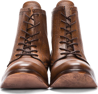 Hudson H by Tan Leather Swathmore Grain Boots