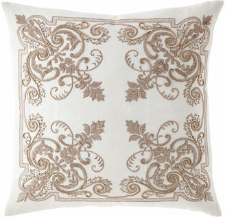 "Callisto Home Troyes Embroidered Accent Pillow, 22""Sq."