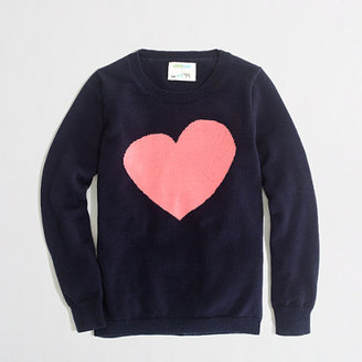 J.Crew Factory Factory girls' intarsia heart popover