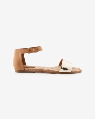 See by Chloe Mirror Cork Bed Flat Sandal: Gold
