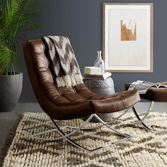 Williams-Sonoma James Nickel & Leather Chair