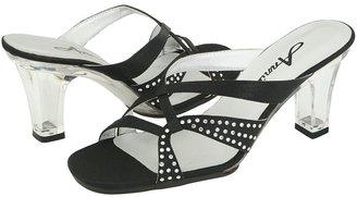 Annie Marlene (Black Satin) - Footwear