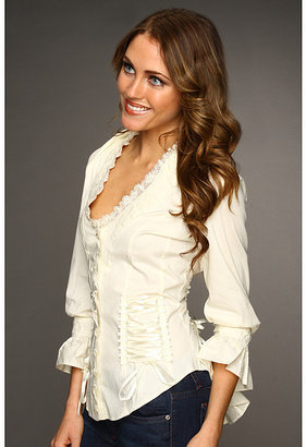 Scully Lace-Up Back Shirt
