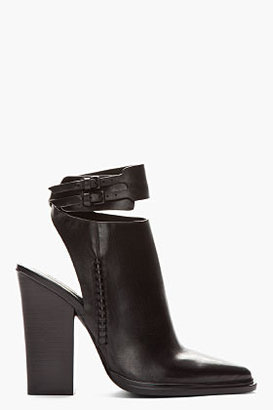 Alexander Wang Black cut-out Dasha ankle Boots