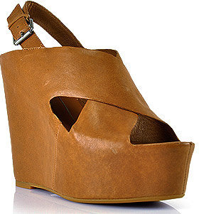 Dolce Vita Julie - Tan Leather Covered Wedge Sandal