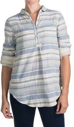 Project Brand Joni Beach Stripe Shirt - Long Roll Sleeve (For Women)