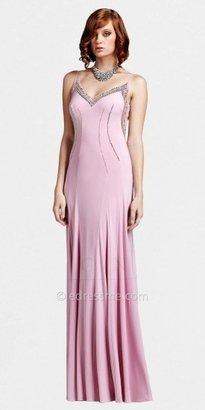 Mignon Sheer Low Back Vintage Inspired Evening Dresses