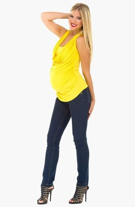 Olian Cowl Neck Sleeveless Maternity Top